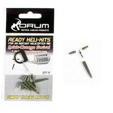 Korum T montáž Ready Heli-Kits Quickchange Swivel