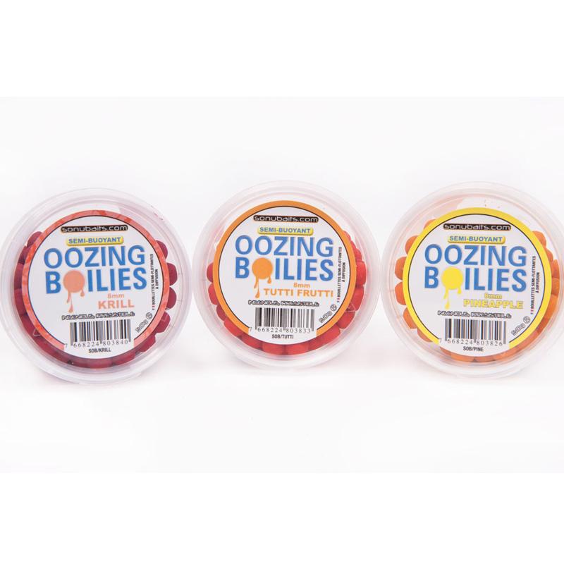 Sonubaits Oozing Boilies 8mm 50g Tutti Frutti
