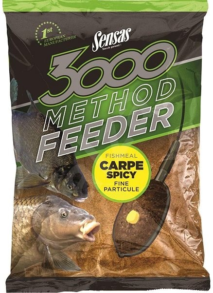 Sensas krmení  3000 Method Feeder Carp Spicy 1kg