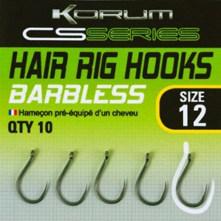 Korum Háčky s očkem CS Series Hair Rig Hooks