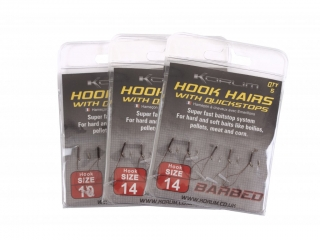 Korum Háčky s očkem Hook Hairs with Quickstops Barbless