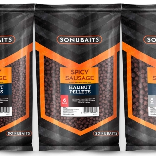 Sonubaits Spicy Sausage Halibut feed pellets