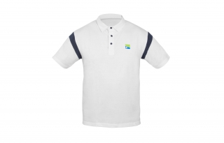 Preston Polokošile s límečkem White Polo-shirt