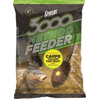 Sensas krmení 3000 Method Feeder Carpe Yellow 1kg