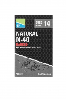 Preston Natural N-40 hooks