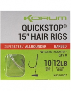 Korum Korum Big Fish Quickstop hair rigs barbed - 38 cm